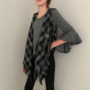 My Michelle Fall Plaid Fleece Vest, M